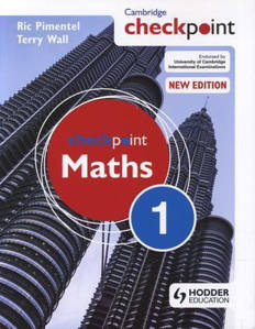 Picture of Cambridge Checkpoint Maths Student's Book 1 -  C. T. C. Wall & Ric Pimentel