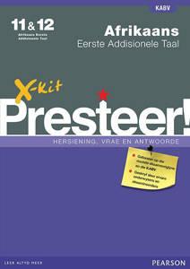 Picture of X-Kit Presteer! Afrikaans Eerste Addisionele Taal Graad 11 & 12 Studiegids (KABV)