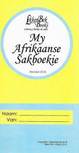 Picture of My Afrikaanse Sakboekie (9781920021918 NV)